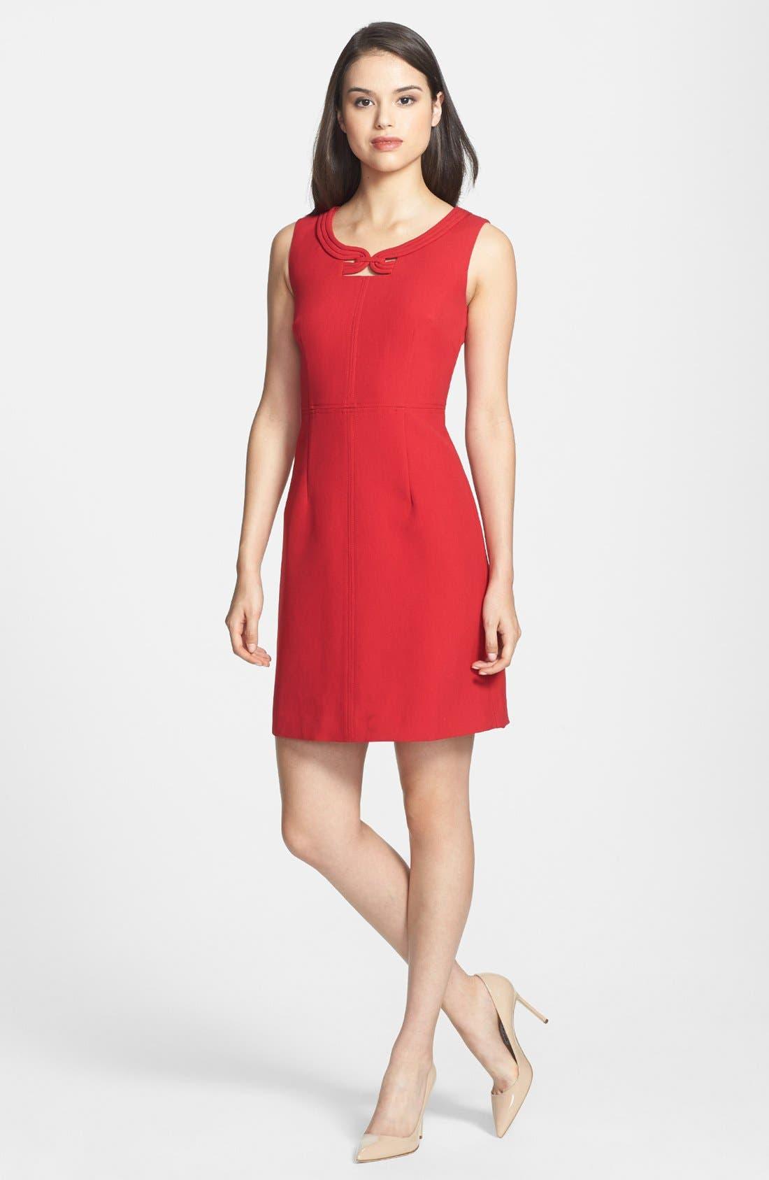 Alternate Image 1 Selected - Laundry by Shelli Segal Seamed Crepe Sheath Dress