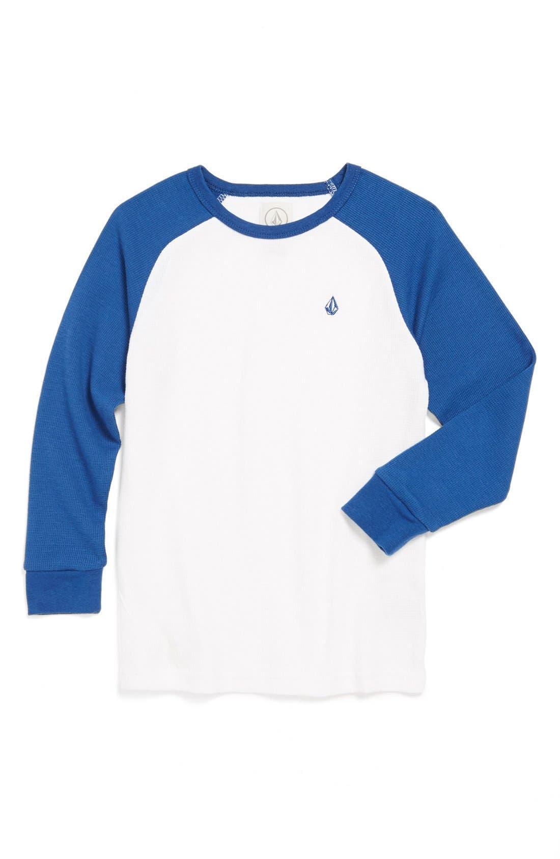 Main Image - Volcom 'Fabuloso' Raglan Long Sleeve Raglan Thermal T-Shirt (Little Boys)