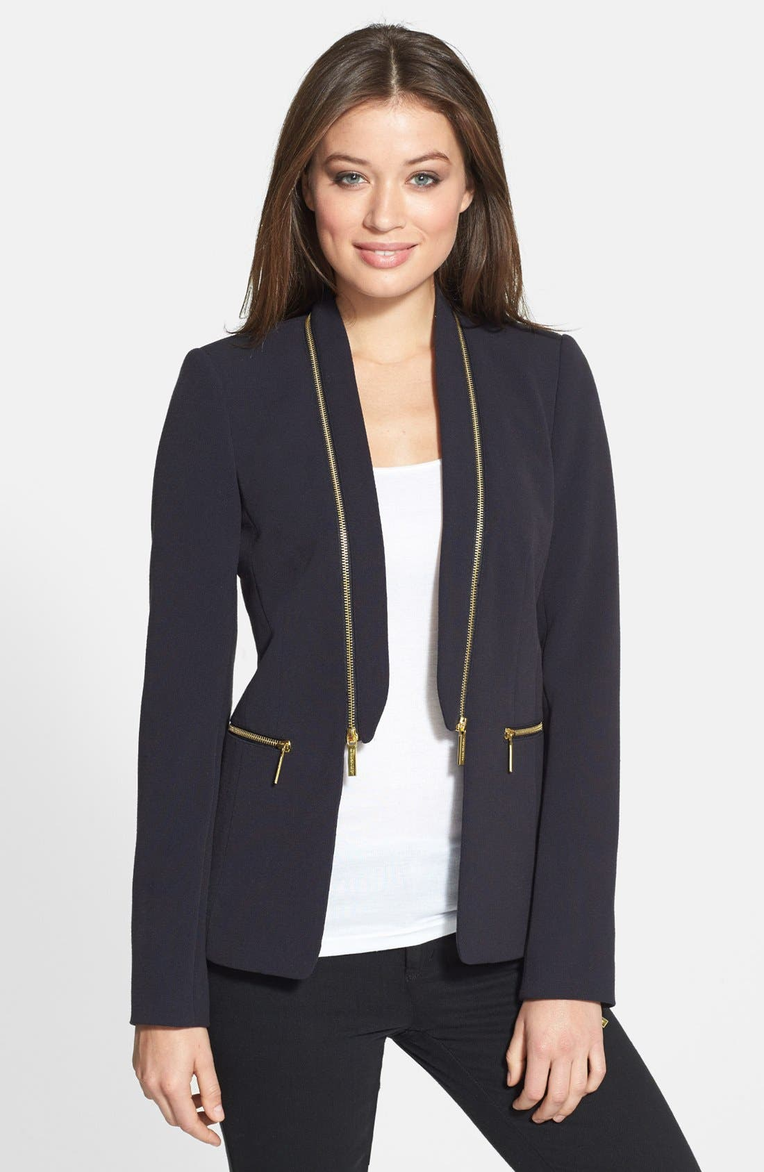 Main Image - MICHAEL Michael Kors Zip Detail Jacket