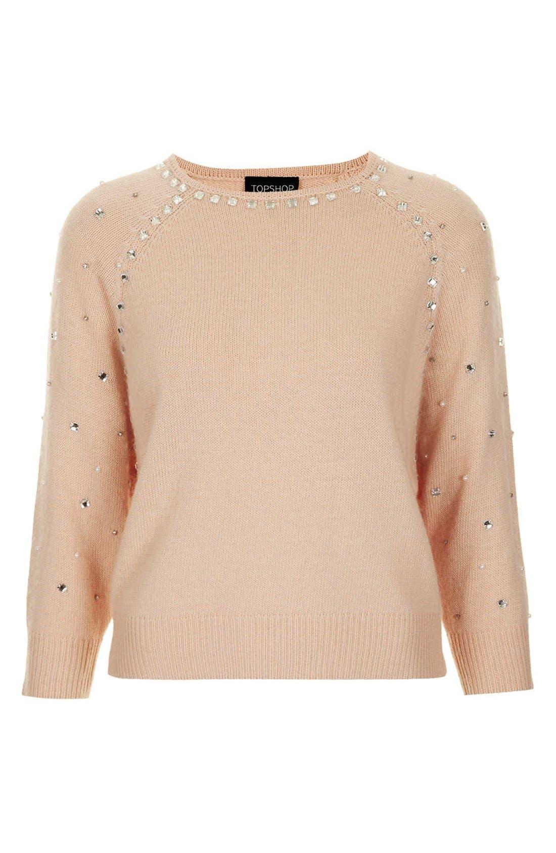 Alternate Image 3  - Topshop Embellished Sweater