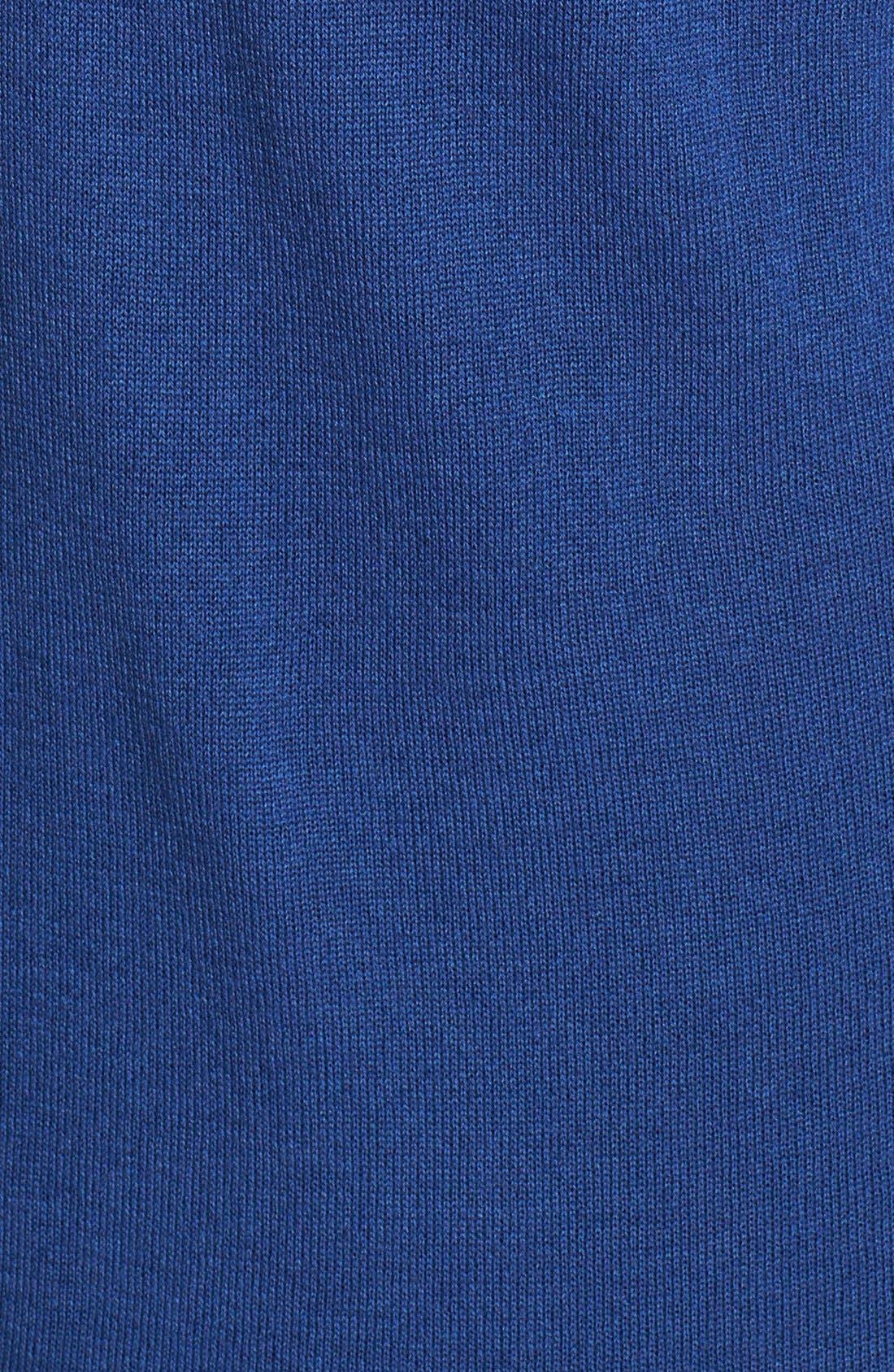 Alternate Image 4  - Sejour Faux Leather Collar Sweater (Plus Size)