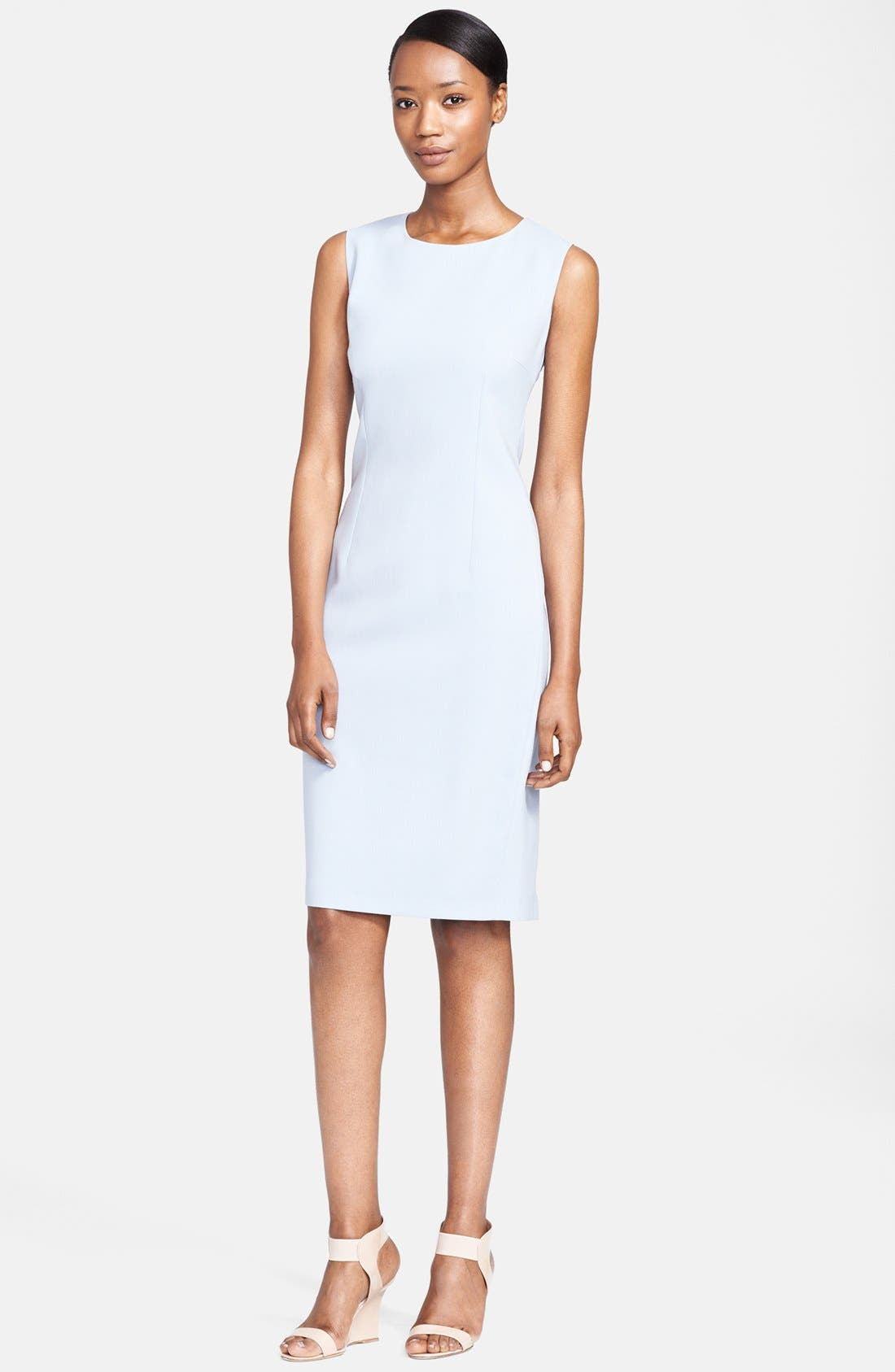 Main Image - Max Mara 'Pasta' Stretch Wool Sheath Dress