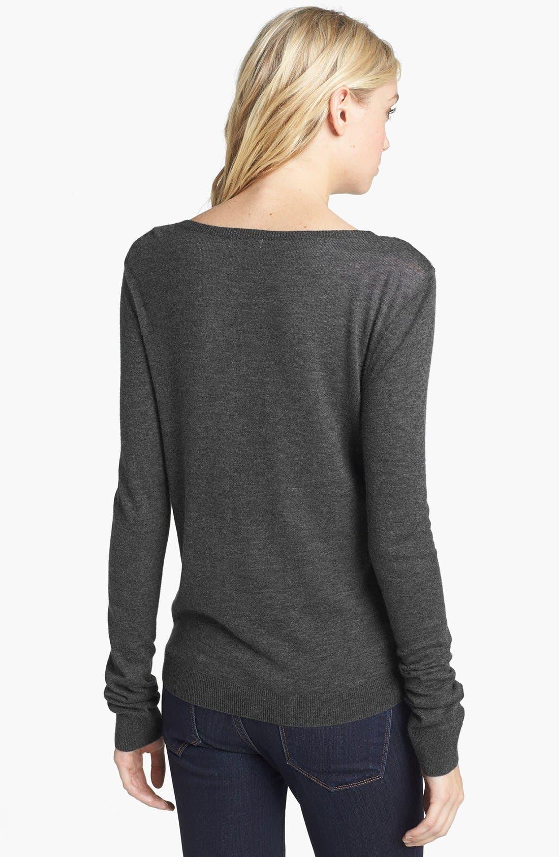 Alternate Image 2  - Hinge® Beaded Lace Overlay Sweater