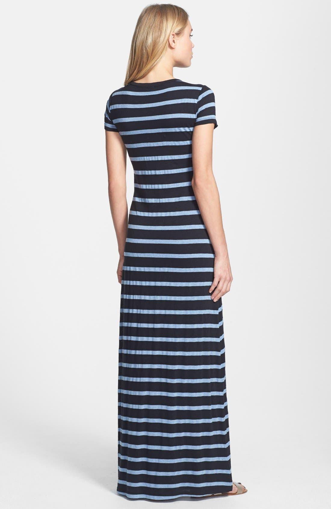 Alternate Image 2  - Splendid Stripe V-Neck Maxi Dress