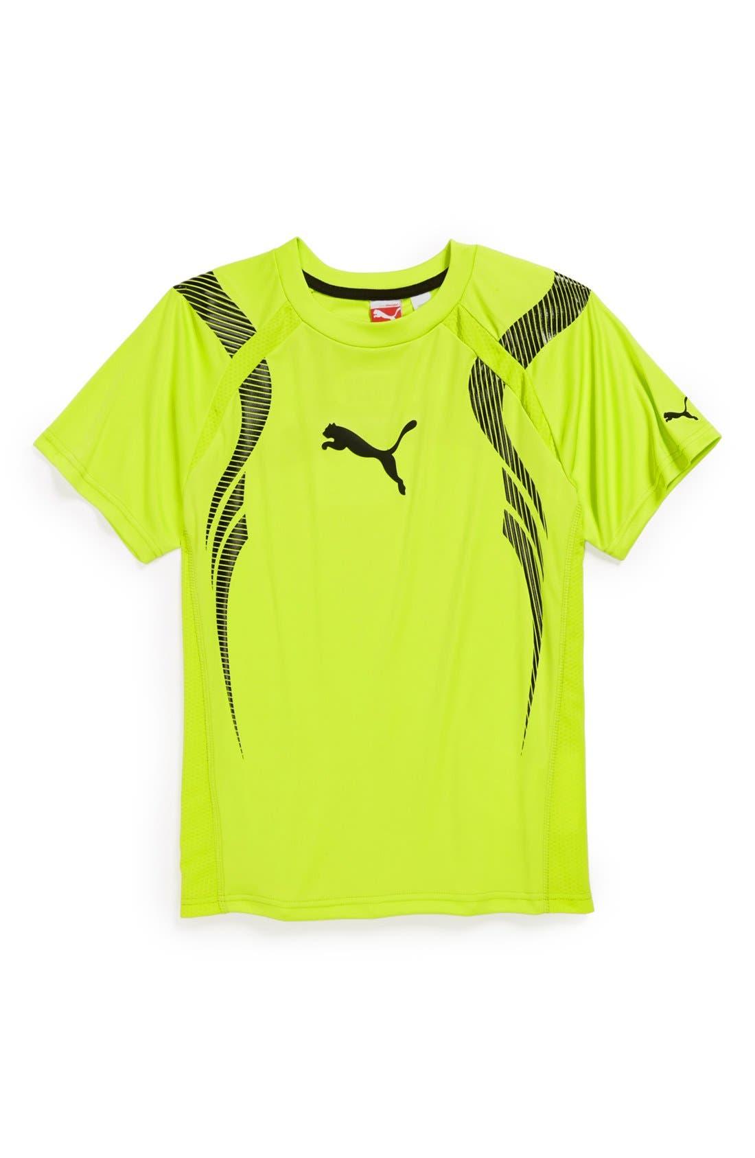 Alternate Image 1 Selected - PUMA 'Acceleration' Short Sleeve T-Shirt (Little Boys)