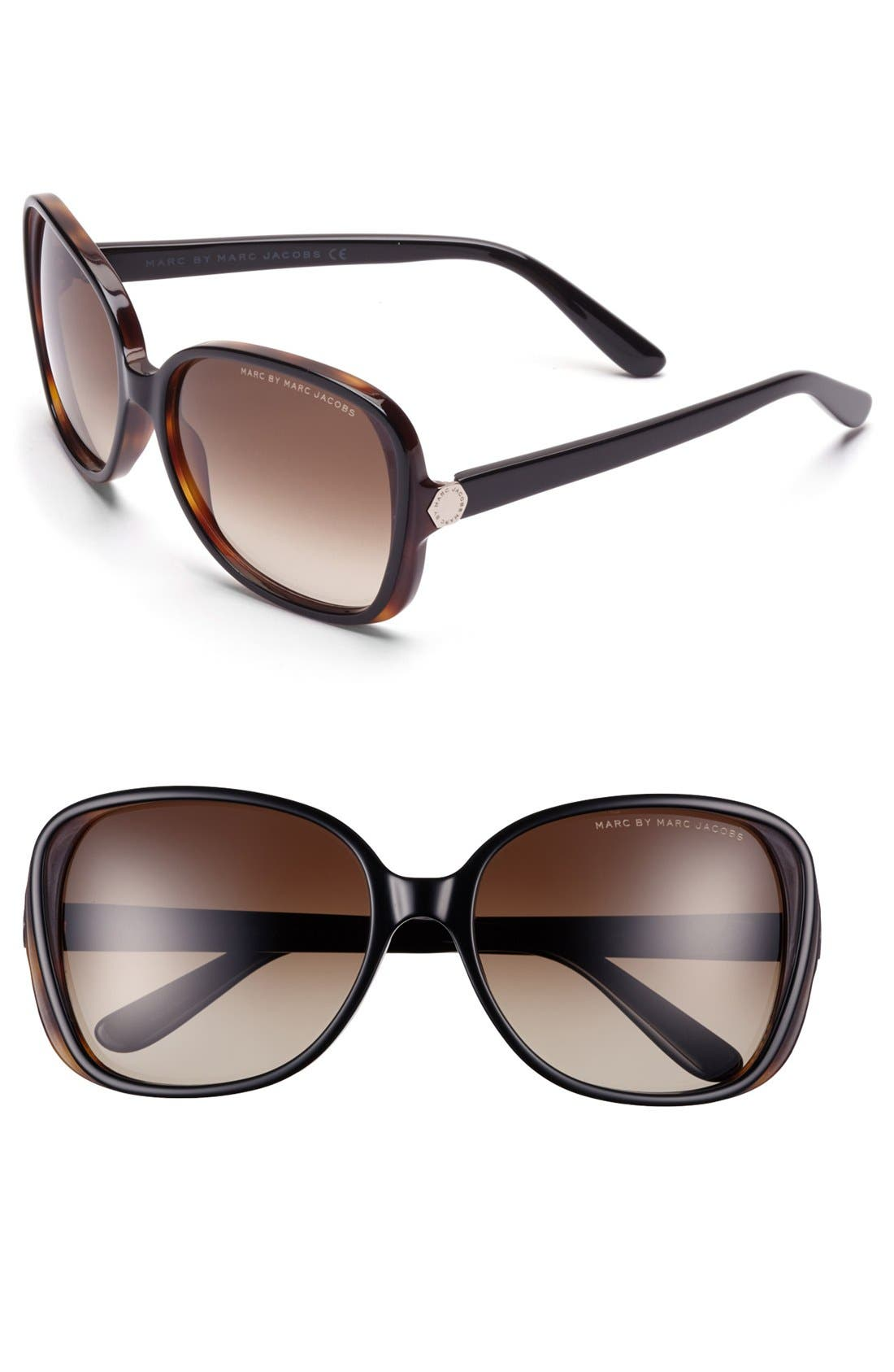 Main Image - MARC BY MARC JACOBS 57mm Sunglasses