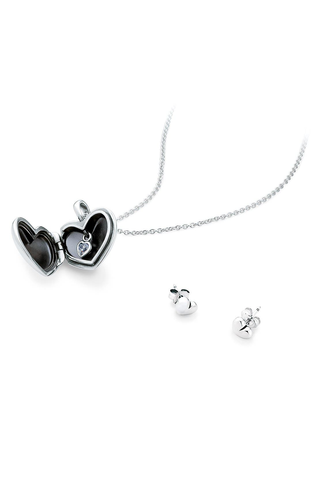 Main Image - PANDORA 'Love' Locket Necklace & Earring Set ($185 Value)