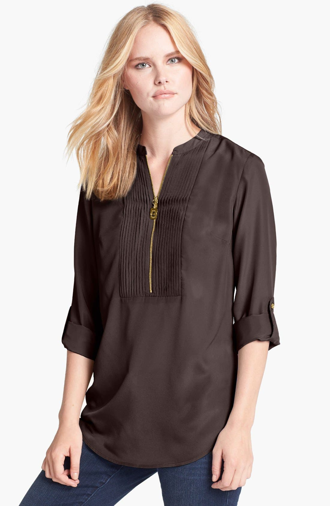Main Image - MICHAEL Michael Kors Tuxedo Pleated Shirt
