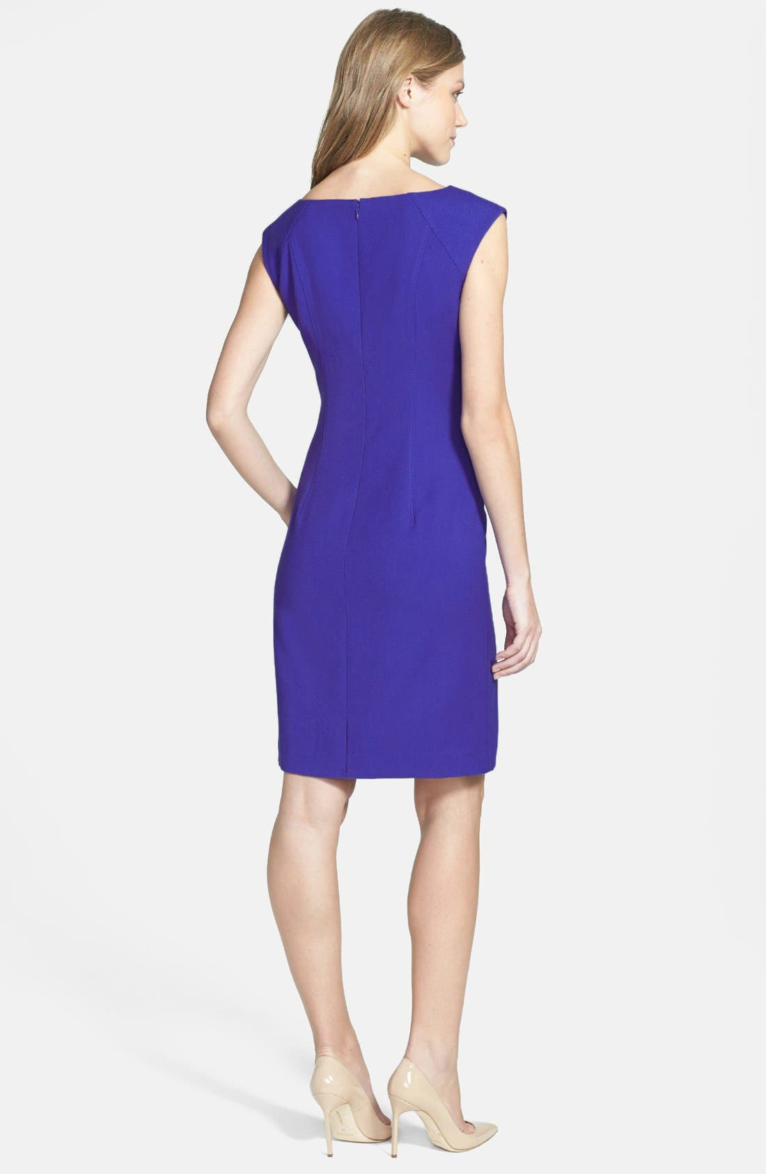Alternate Image 3  - Ivanka Trump Structured Stretch Woven Sheath Dress
