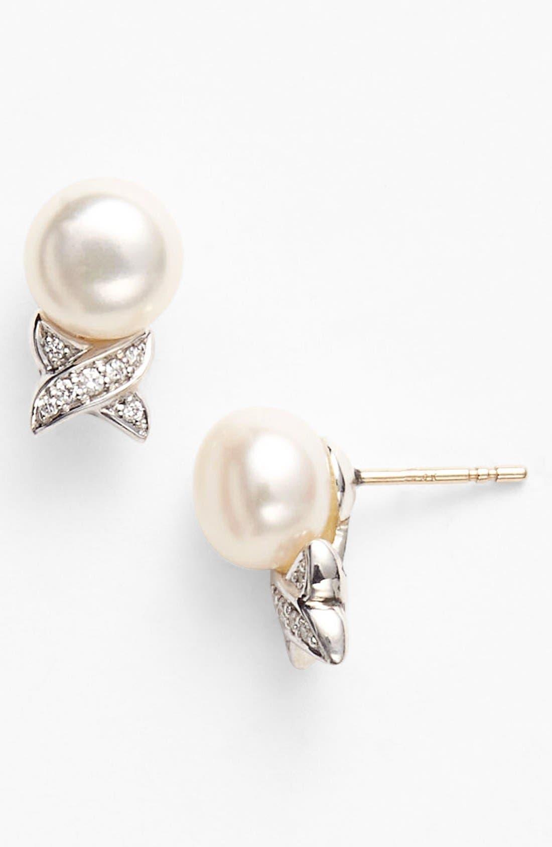 Alternate Image 1 Selected - LAGOS 'Luna' Pearl Stud Earrings