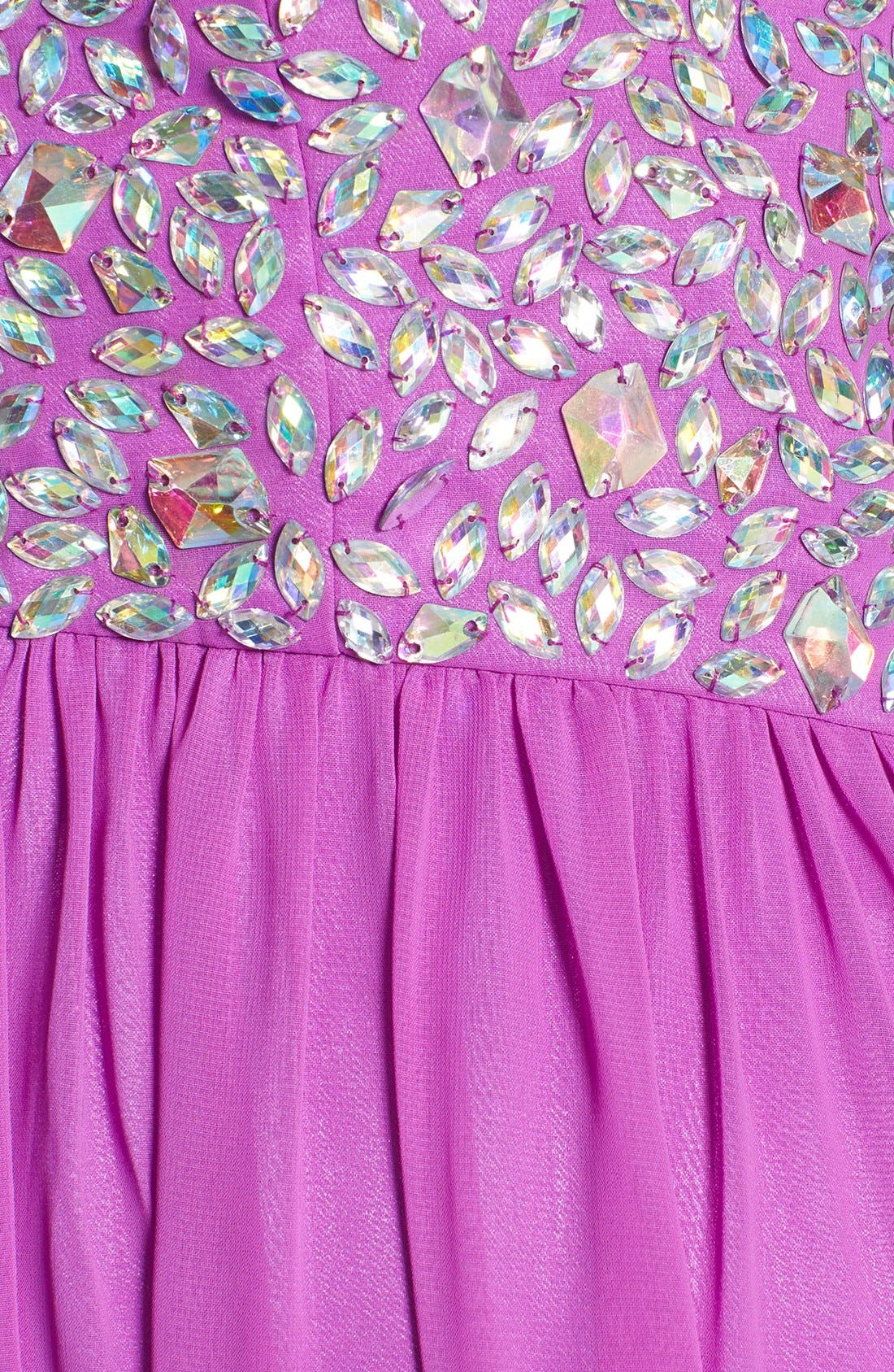 Alternate Image 3  - Xscape Embellished Bodice Strapless Chiffon Gown