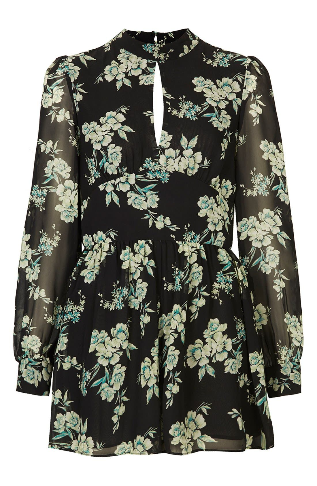 Alternate Image 3  - Topshop Floral Print Long Sleeve Romper