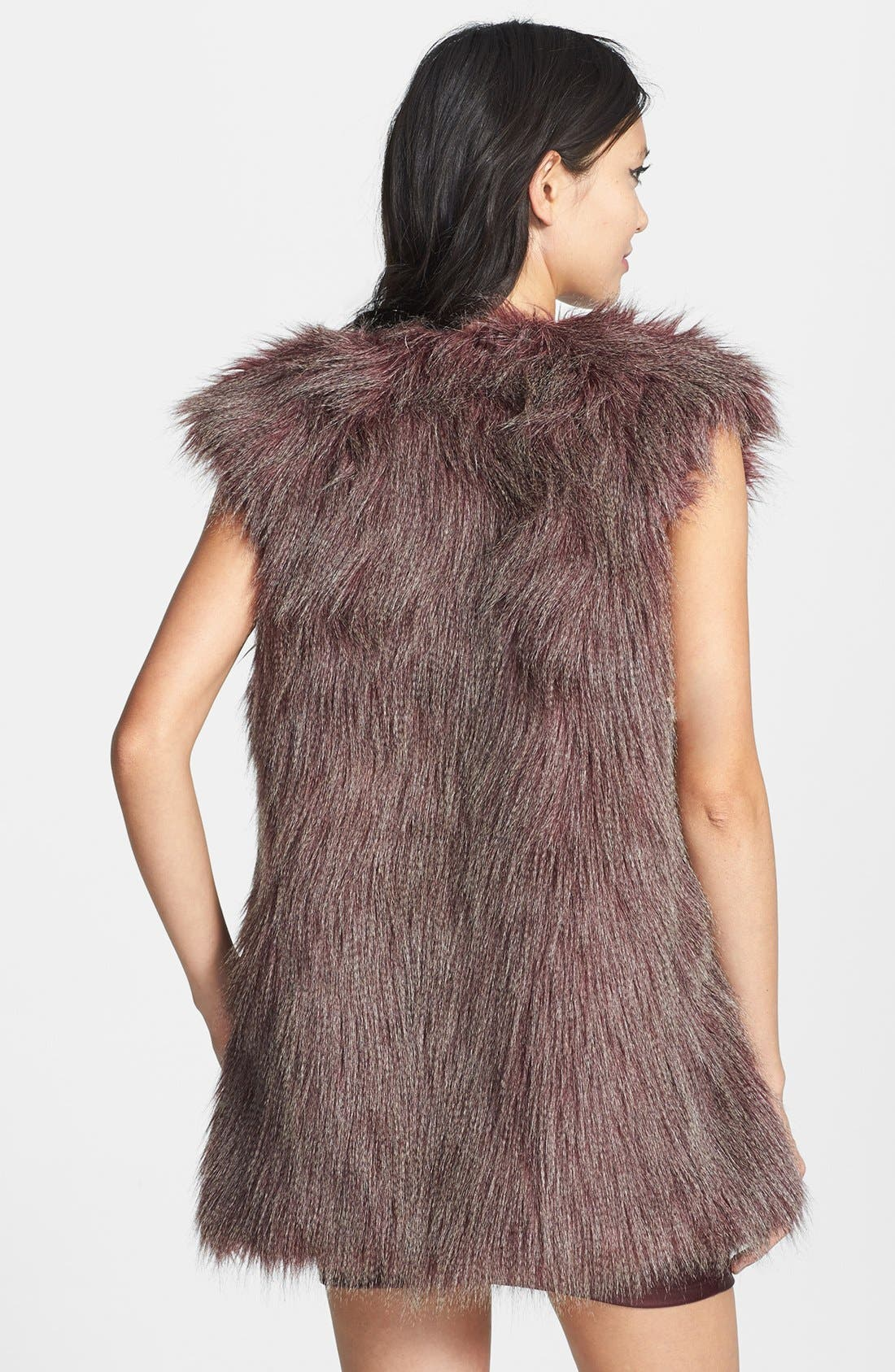 Alternate Image 2  - Romeo & Juliet Couture Faux Fur Vest
