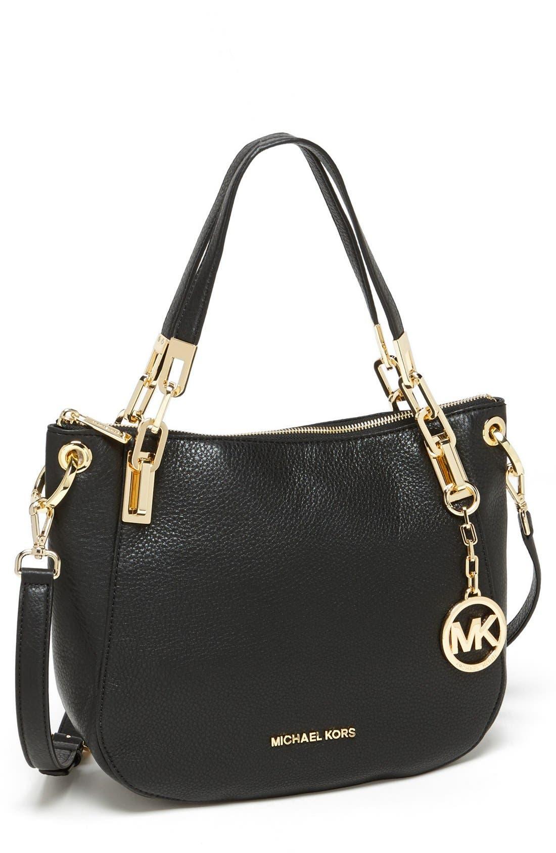 Alternate Image 1 Selected - MICHAEL Michael Kors 'Brooke - Medium' Leather Shoulder Bag
