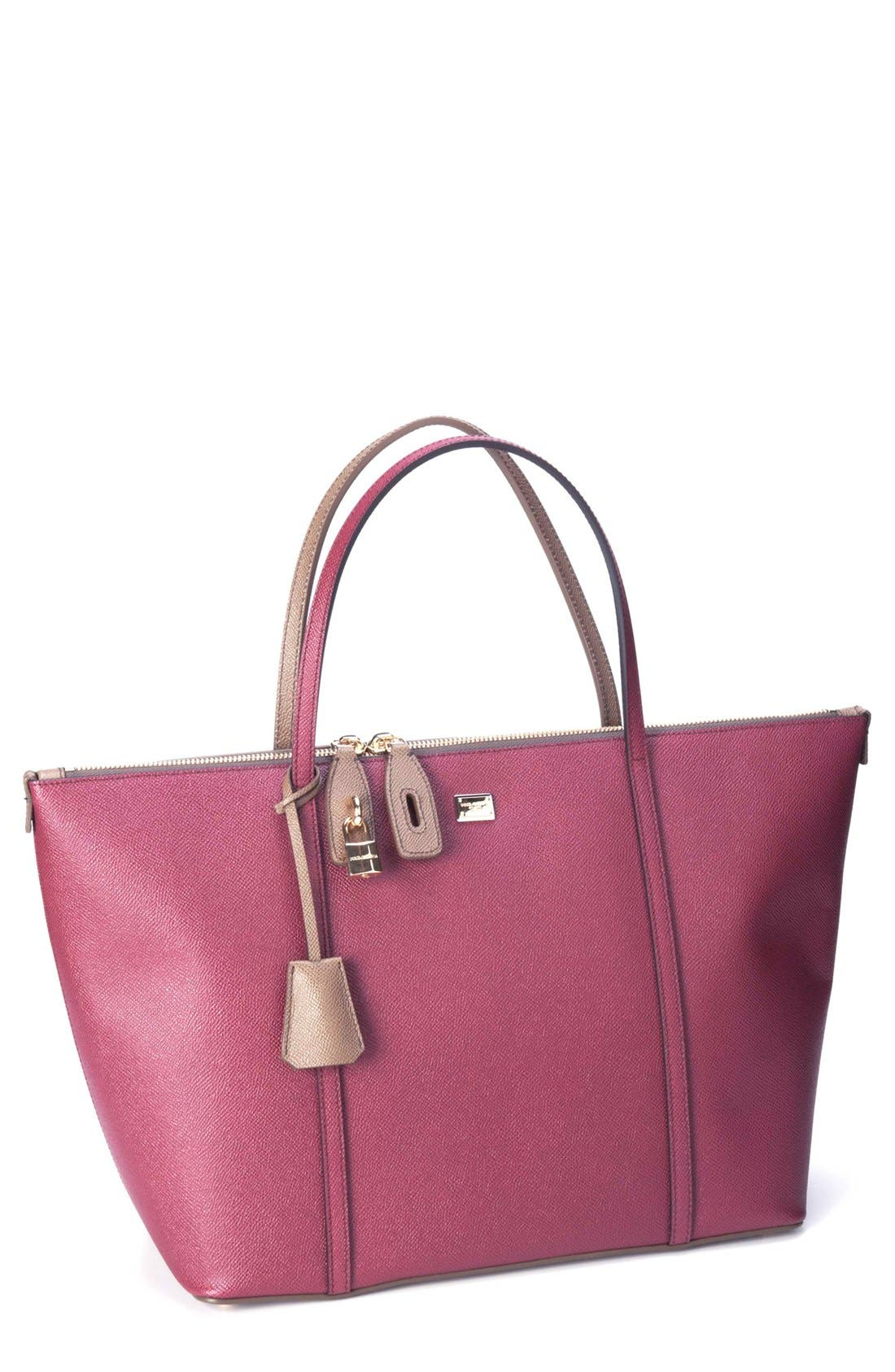 Alternate Image 1 Selected - Dolce&Gabbana 'Miss Escape' Leather Tote