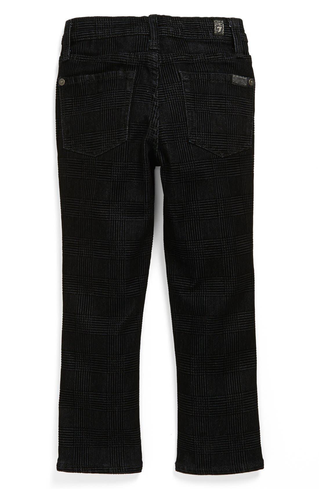 Alternate Image 1 Selected - 7 For All Mankind® 'Slimmy' Flocked Slim Fit Jeans (Toddler Boys)