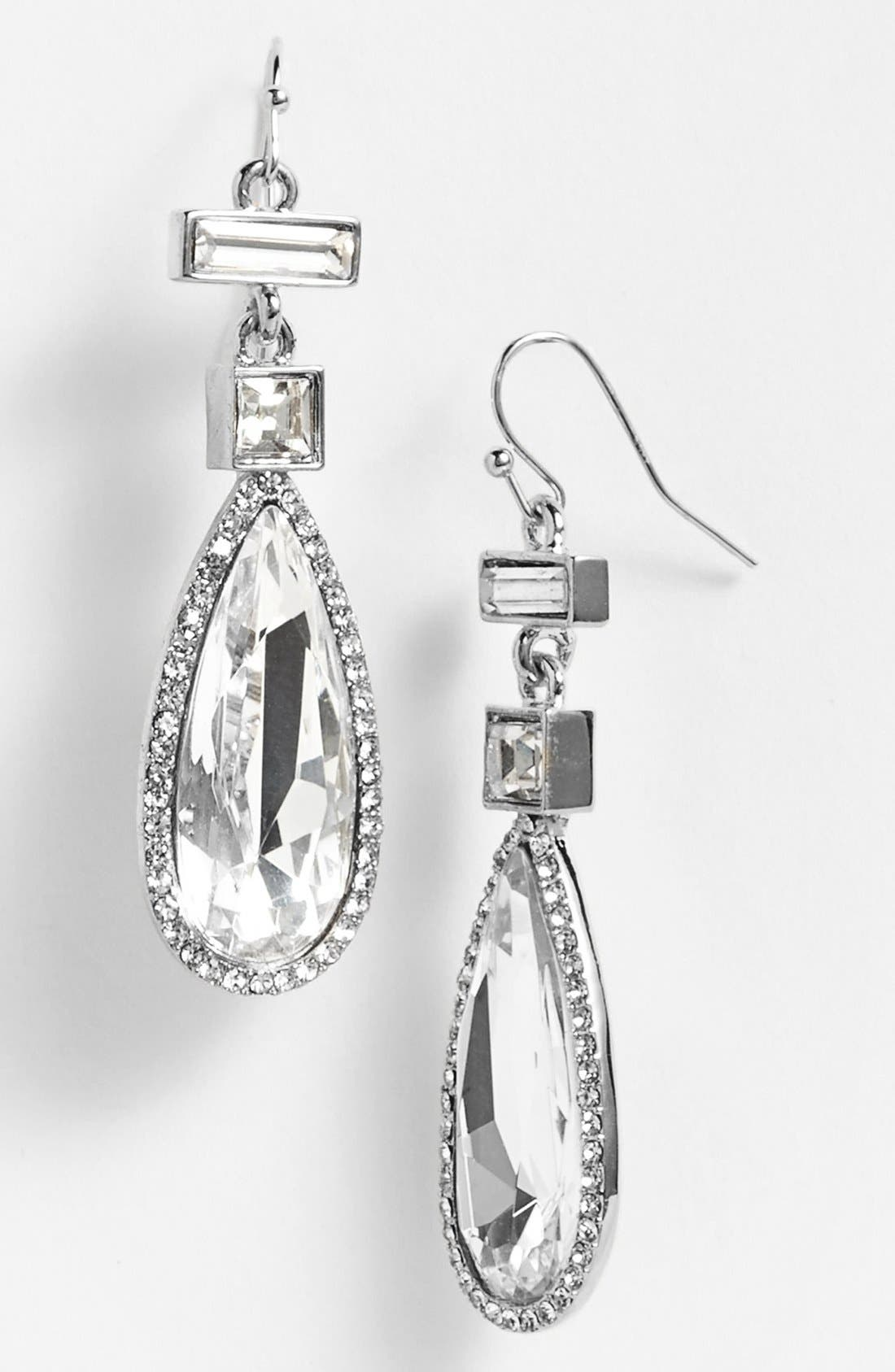 Alternate Image 1 Selected - Vince Camuto 'Diamonds in the Sky' Crystal Teardrop Earrings