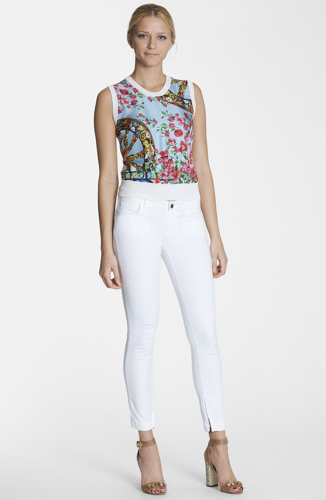 Alternate Image 1 Selected - Dolce&Gabbana Top & Skinny Jeans