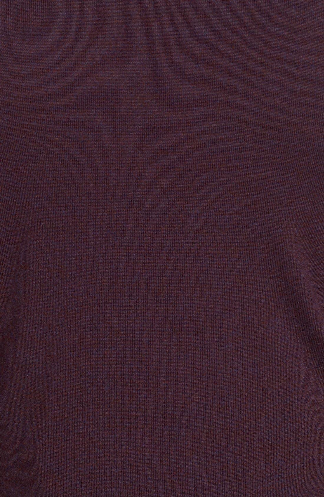 Alternate Image 3  - Burberry Brit Trim Fit Check Shoulder V-Neck Merino Wool Sweater