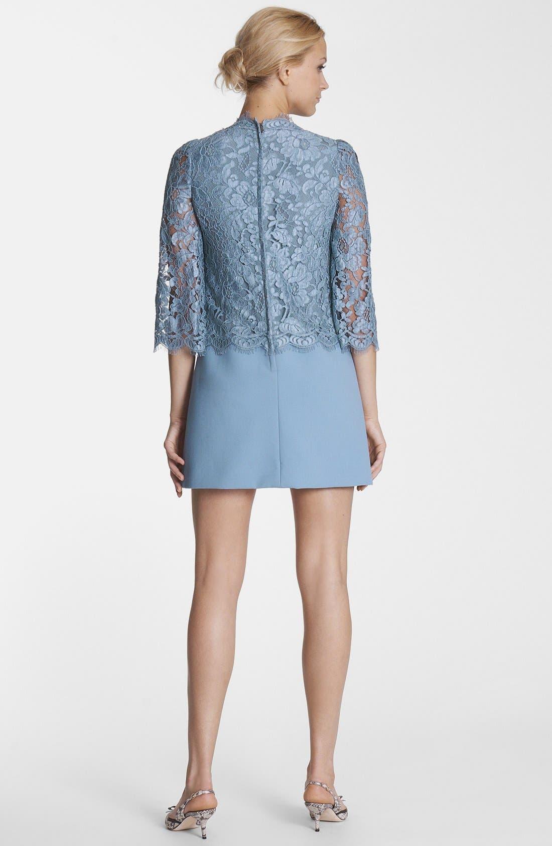 Alternate Image 2  - Dolce&Gabbana Lace & Cady Dress