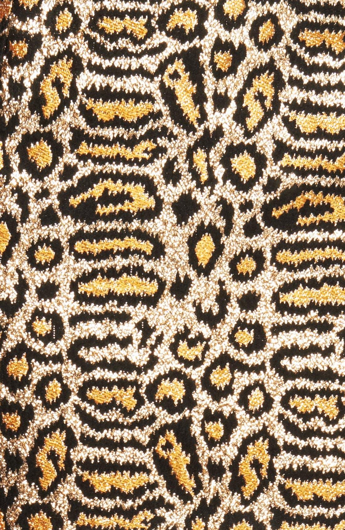 Alternate Image 3  - Saint Laurent Animal Pattern Skirt