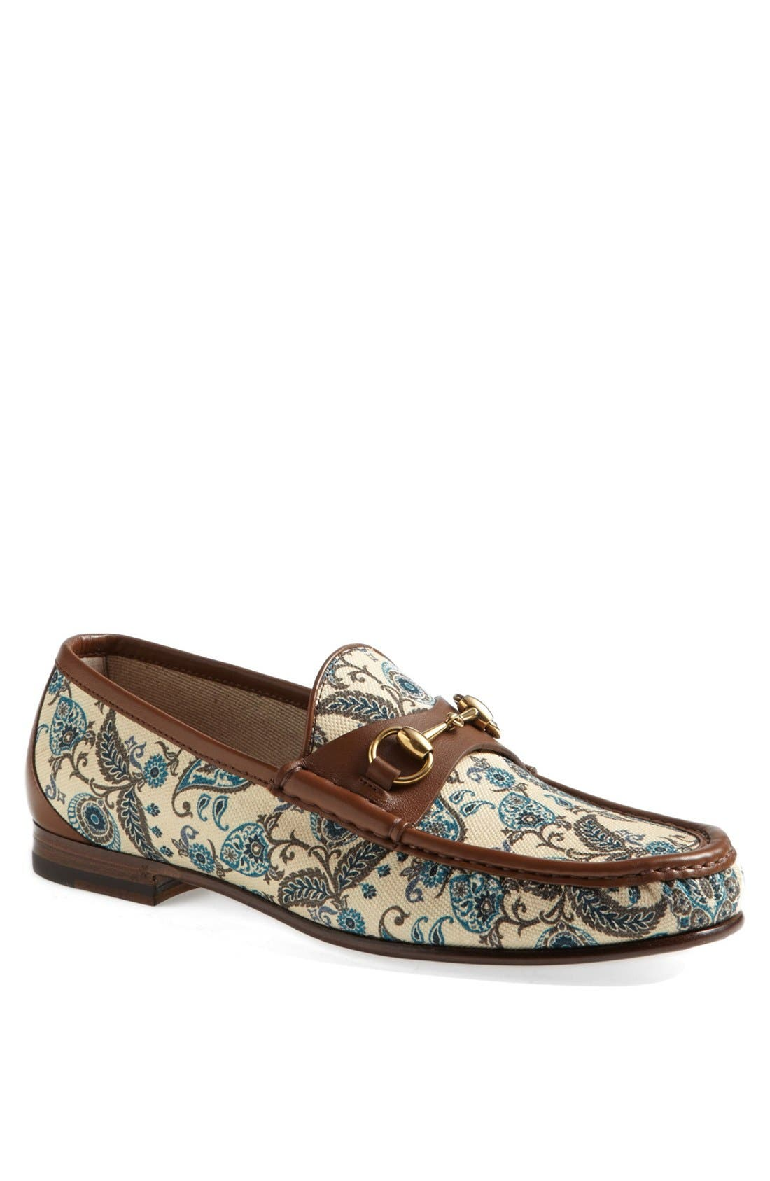 Alternate Image 1 Selected - Gucci 'Roos' Paisley Bit Loafer