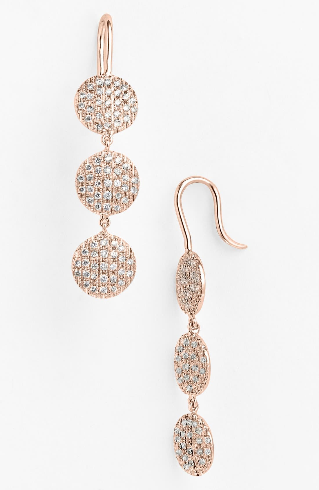 Alternate Image 1 Selected - Dana Rebecca Designs 'Lauren Joy' Diamond Drop Earrings