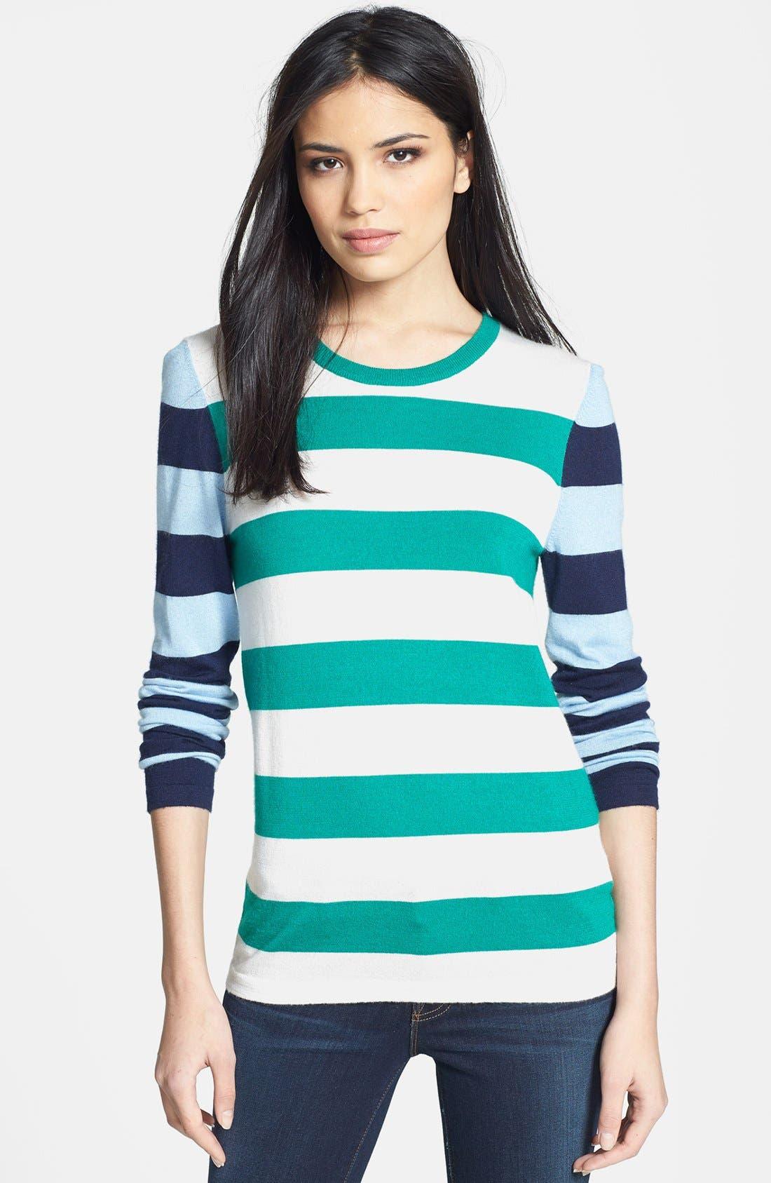 Alternate Image 1 Selected - Equipment 'Violet' Stripe Cashmere Blend Sweater