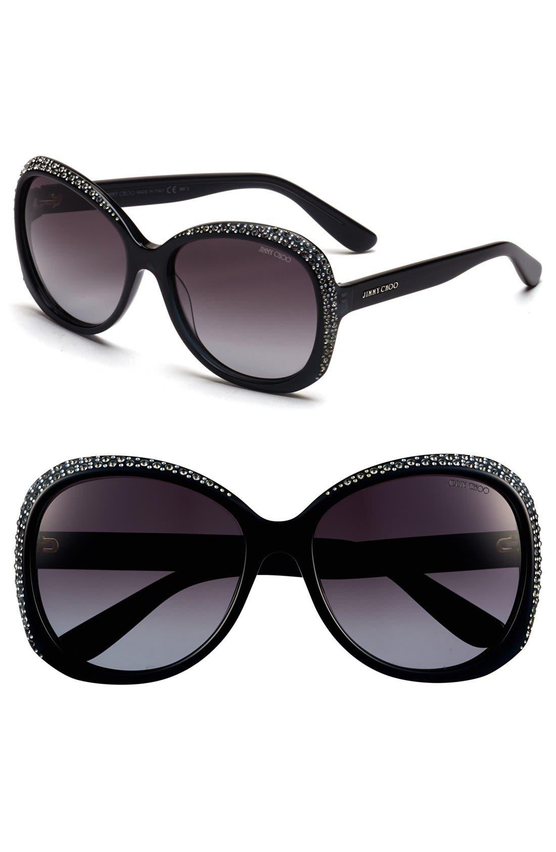 Main Image - Jimmy Choo 58mm Sunglasses