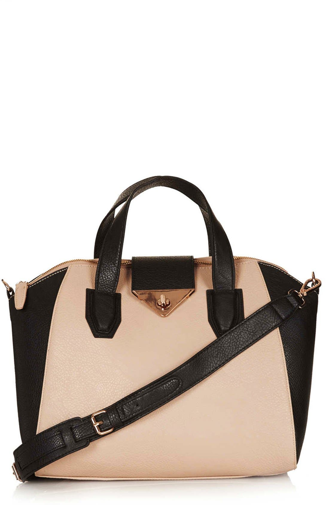 Main Image - Topshop 'Evian' Satchel, Medium