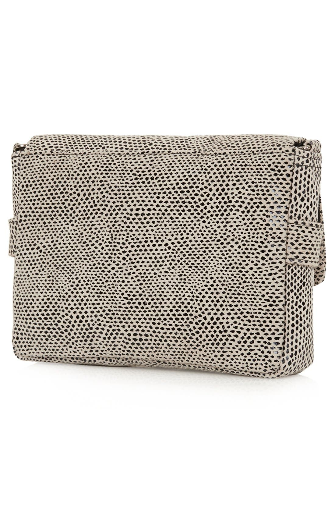 Alternate Image 4  - Topshop Snake Embossed Crossbody Bag