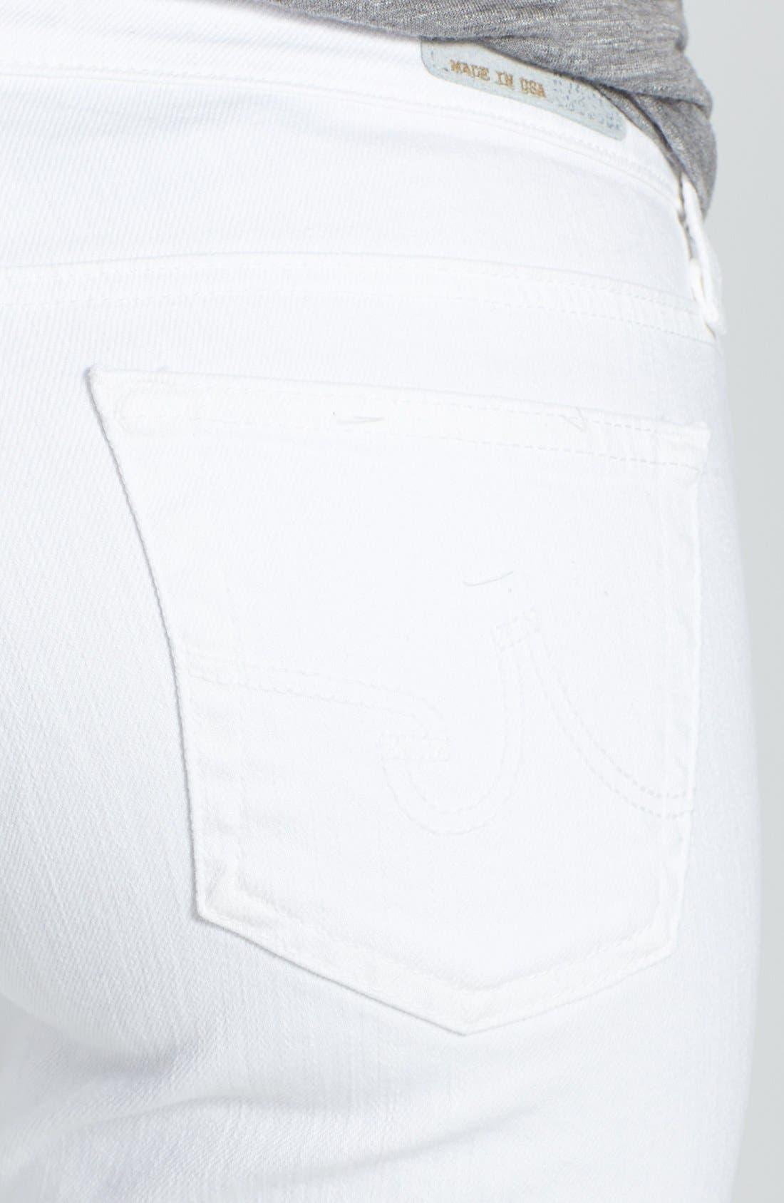 Alternate Image 3  - AG 'Angelina' Bootcut Jeans (Petite) (White)