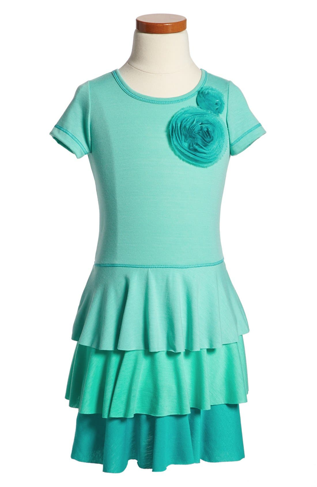 Alternate Image 1 Selected - Pink Vanilla Tiered Dress (Little Girls)