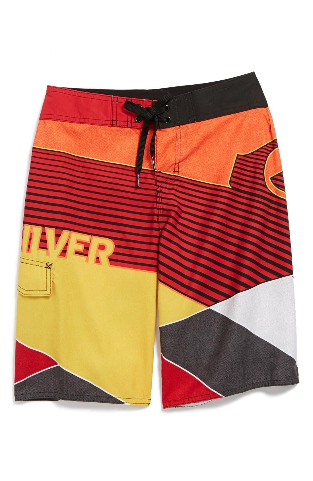 Main Image - Quiksilver 'Beach Day' Board Shorts (Little Boys)
