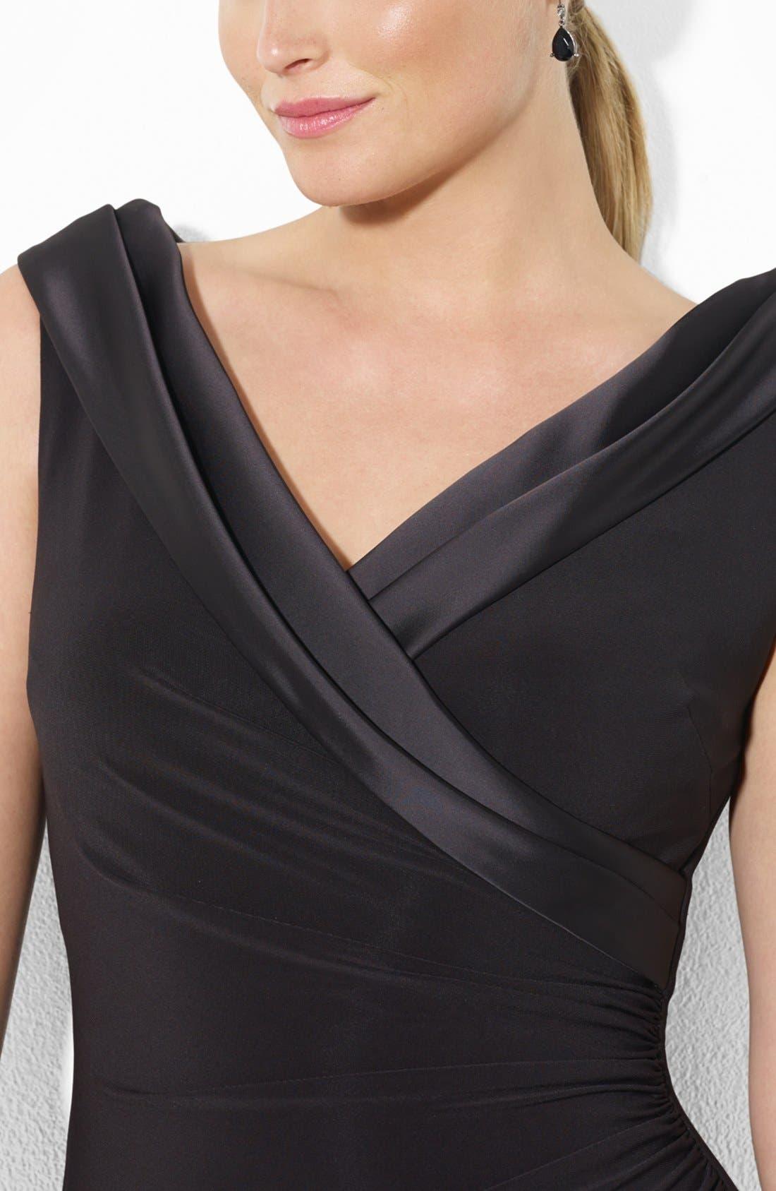 Alternate Image 3  - Lauren Ralph Lauren Portrait Collar Jersey Gown (Plus Size)