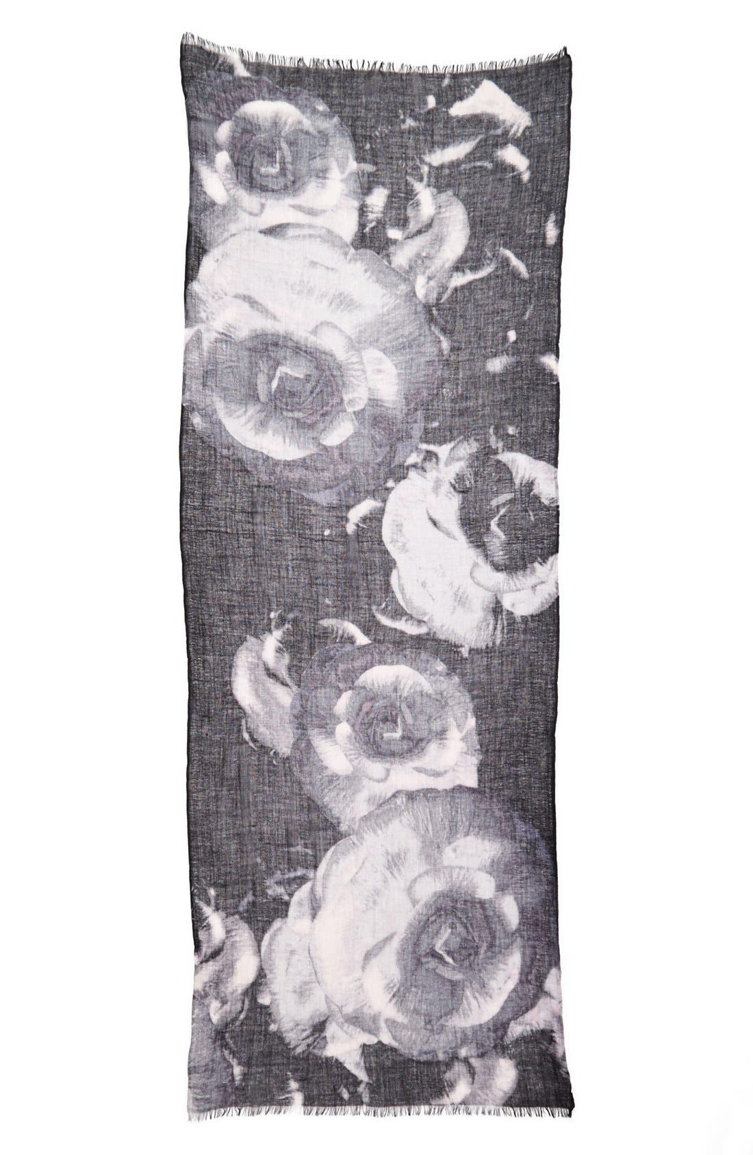 Alternate Image 2  - Nordstrom 'Rosey Reflection' Wool Scarf