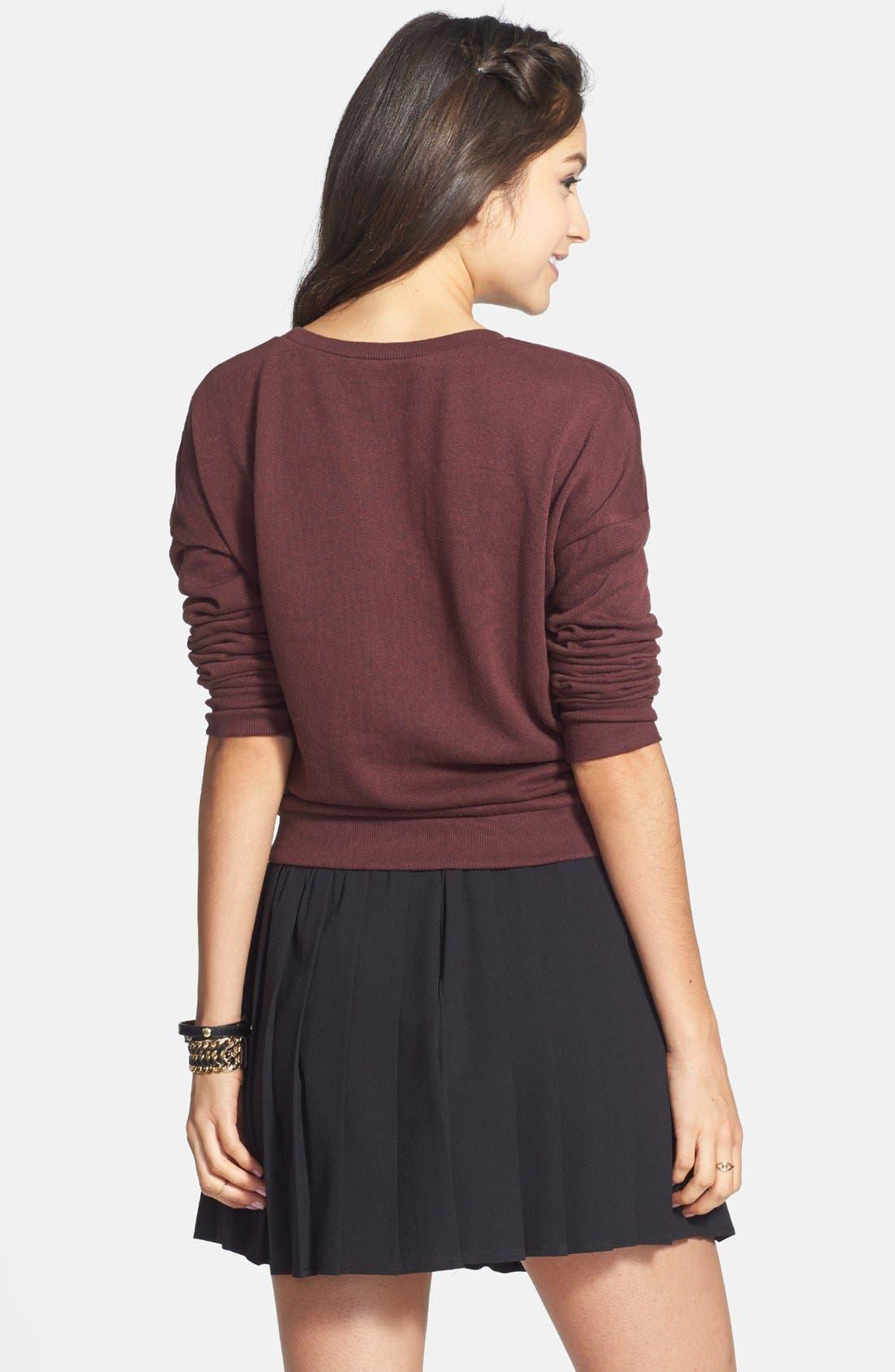 Alternate Image 2  - Haute Society Buckle Detail Pleat Skirt (Juniors) (Online Only)