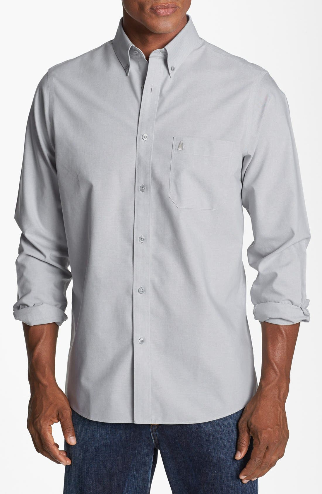Main Image - Nordstrom Men's Shop Smartcare™ Regular Fit Oxford Sport Shirt (Tall)