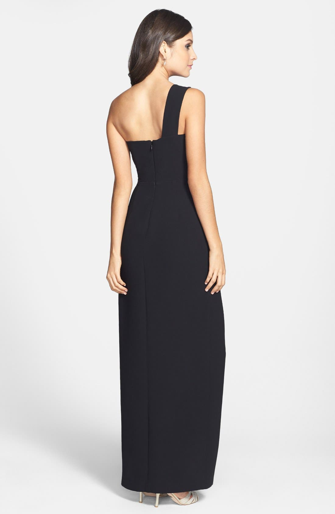 Alternate Image 2  - BCBGMAXAZRIA Cutout One-Shoulder Dress