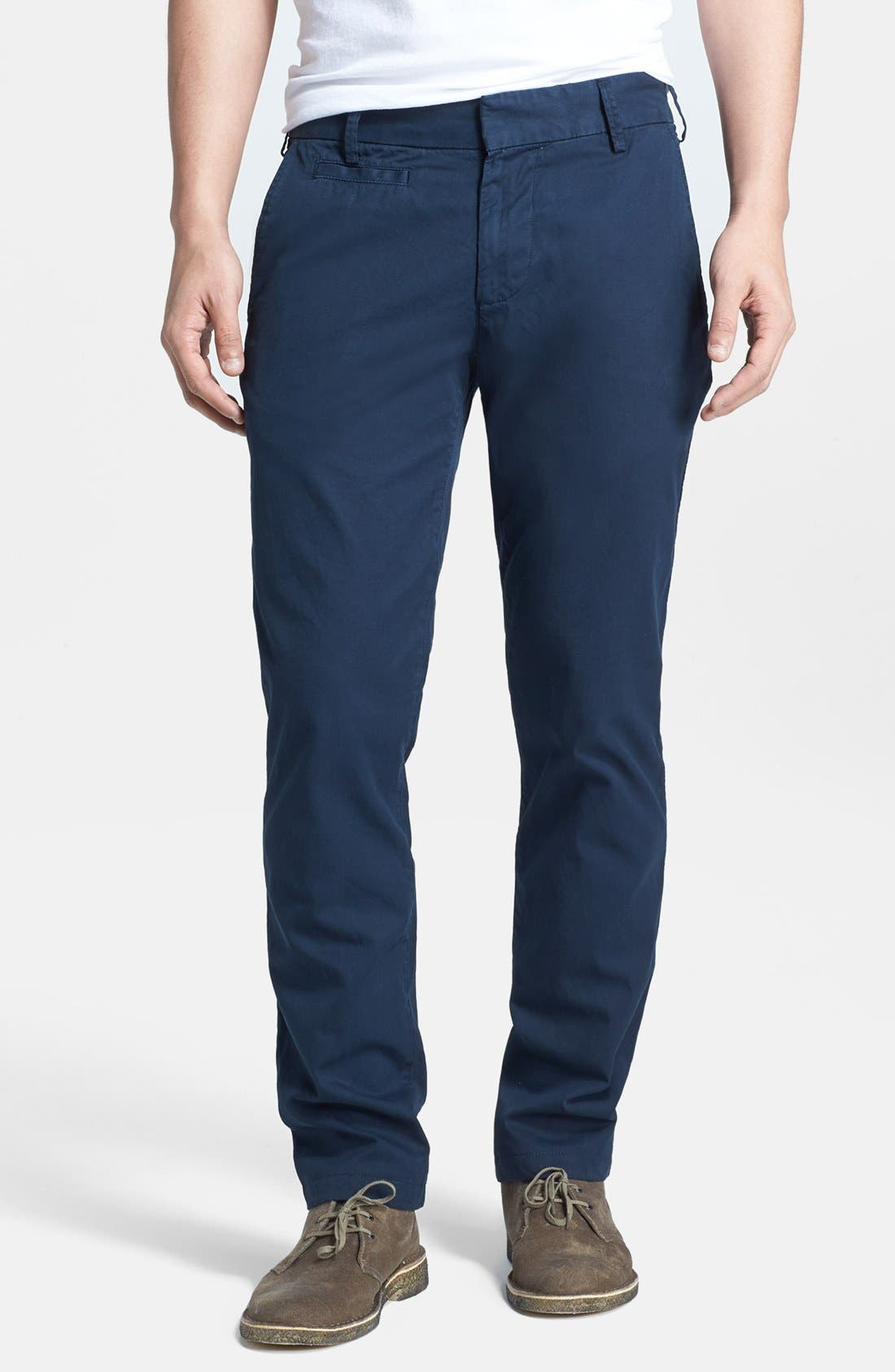 Alternate Image 1 Selected - Save Khaki Slim Fit Trousers