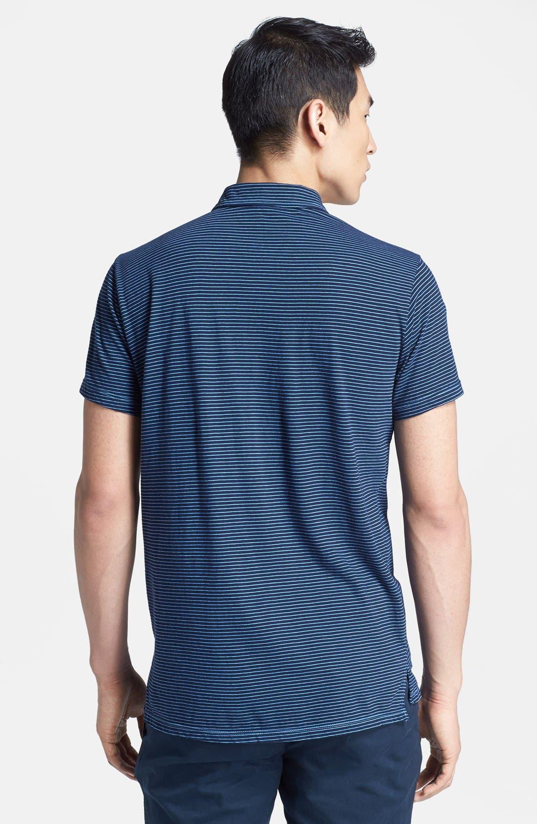 Alternate Image 2  - Save Khaki Stripe Jersey Polo