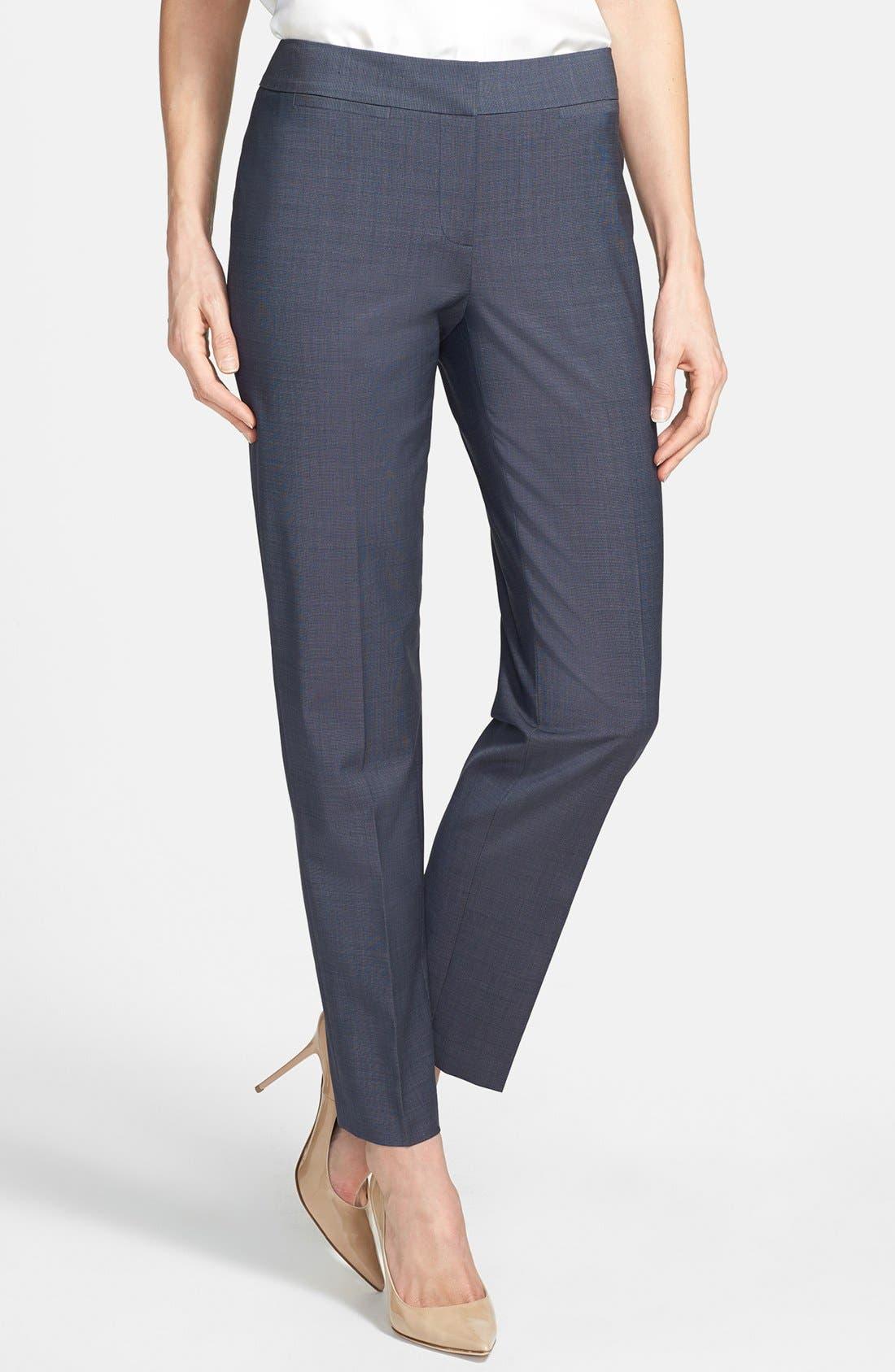 Alternate Image 1 Selected - Classiques Entier® 'Simone' Slim Wool Suiting Pants
