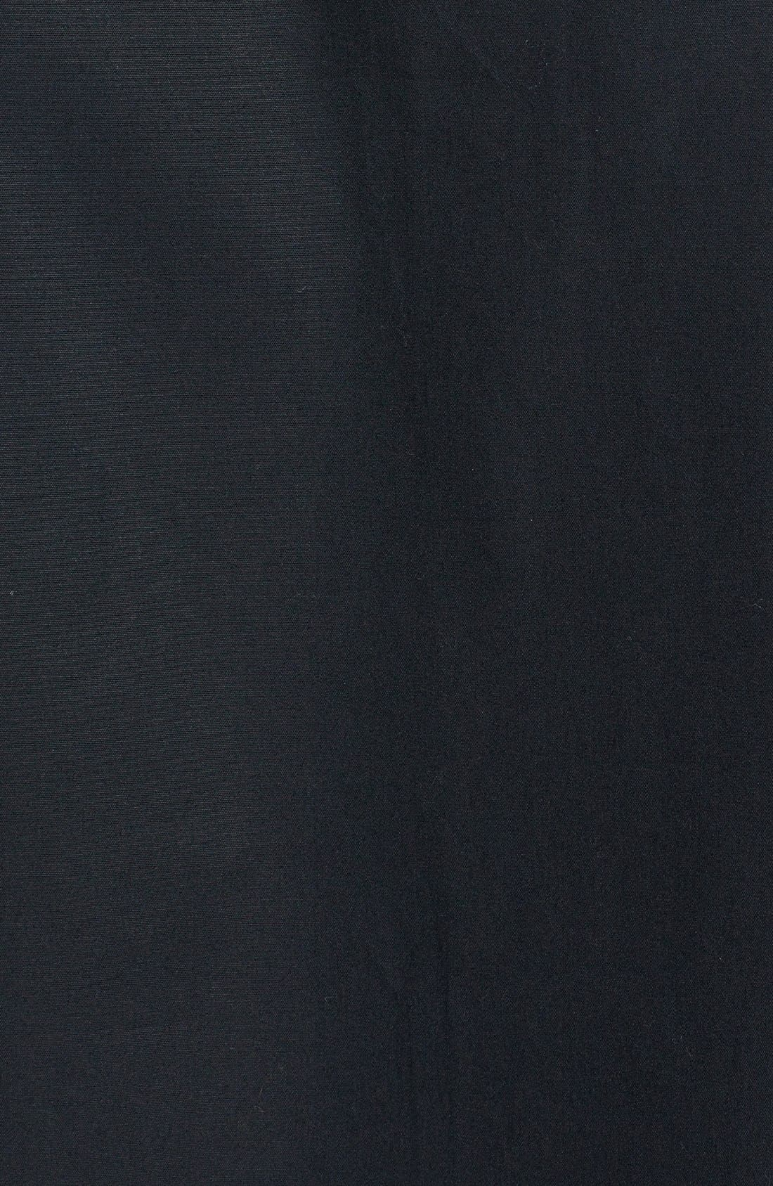 Alternate Image 3  - Topman Slim Fit Faux Leather Collar Shirt