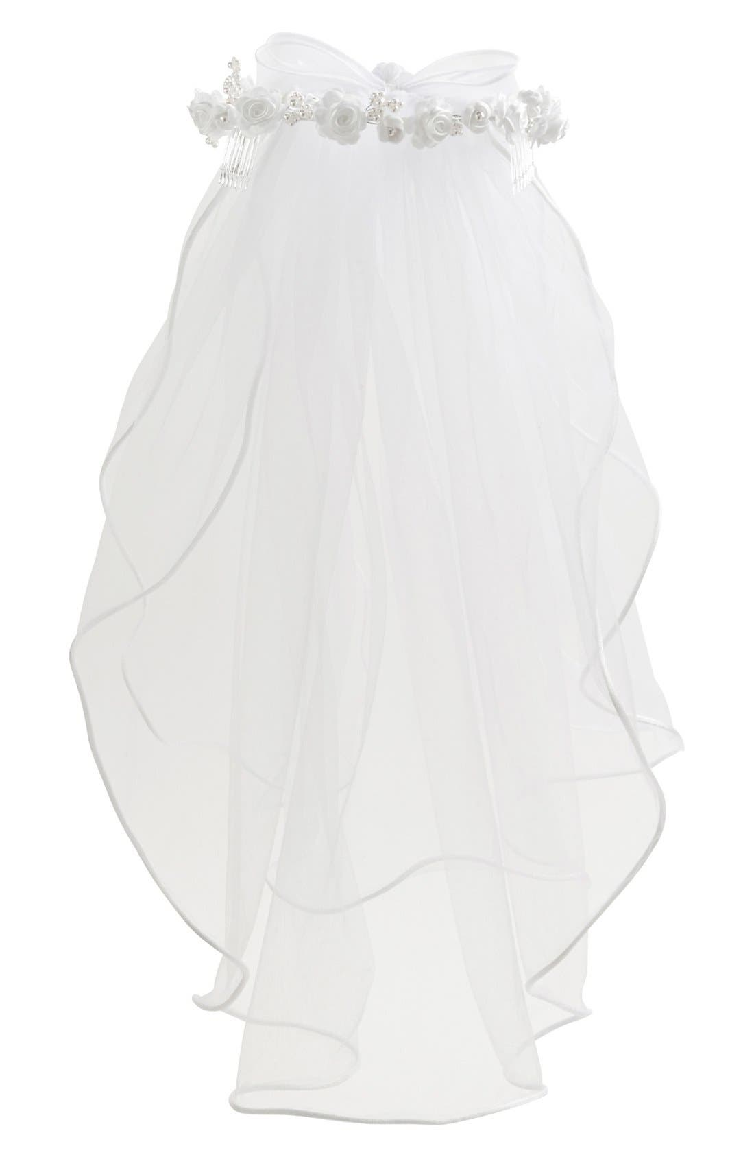 Alternate Image 3  - Lauren Marie First Communion Wreath Veil