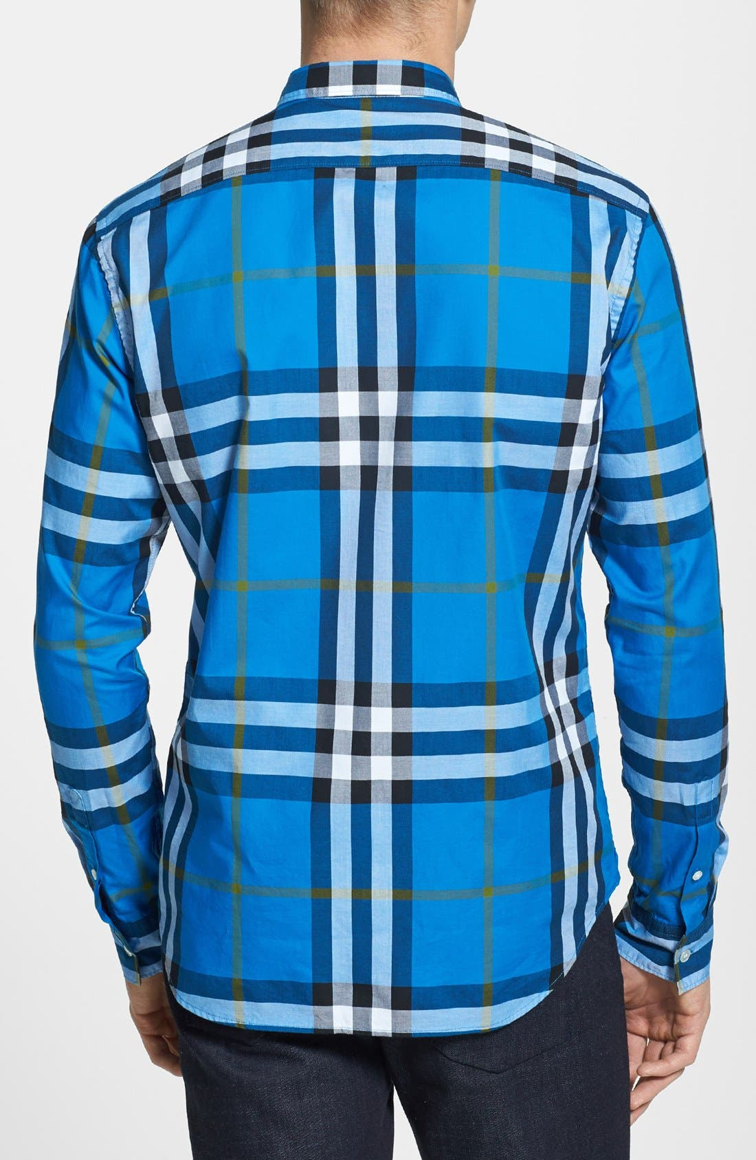 Alternate Image 2  - Burberry Brit 'Niall' Check Trim Fit Cotton Sport Shirt