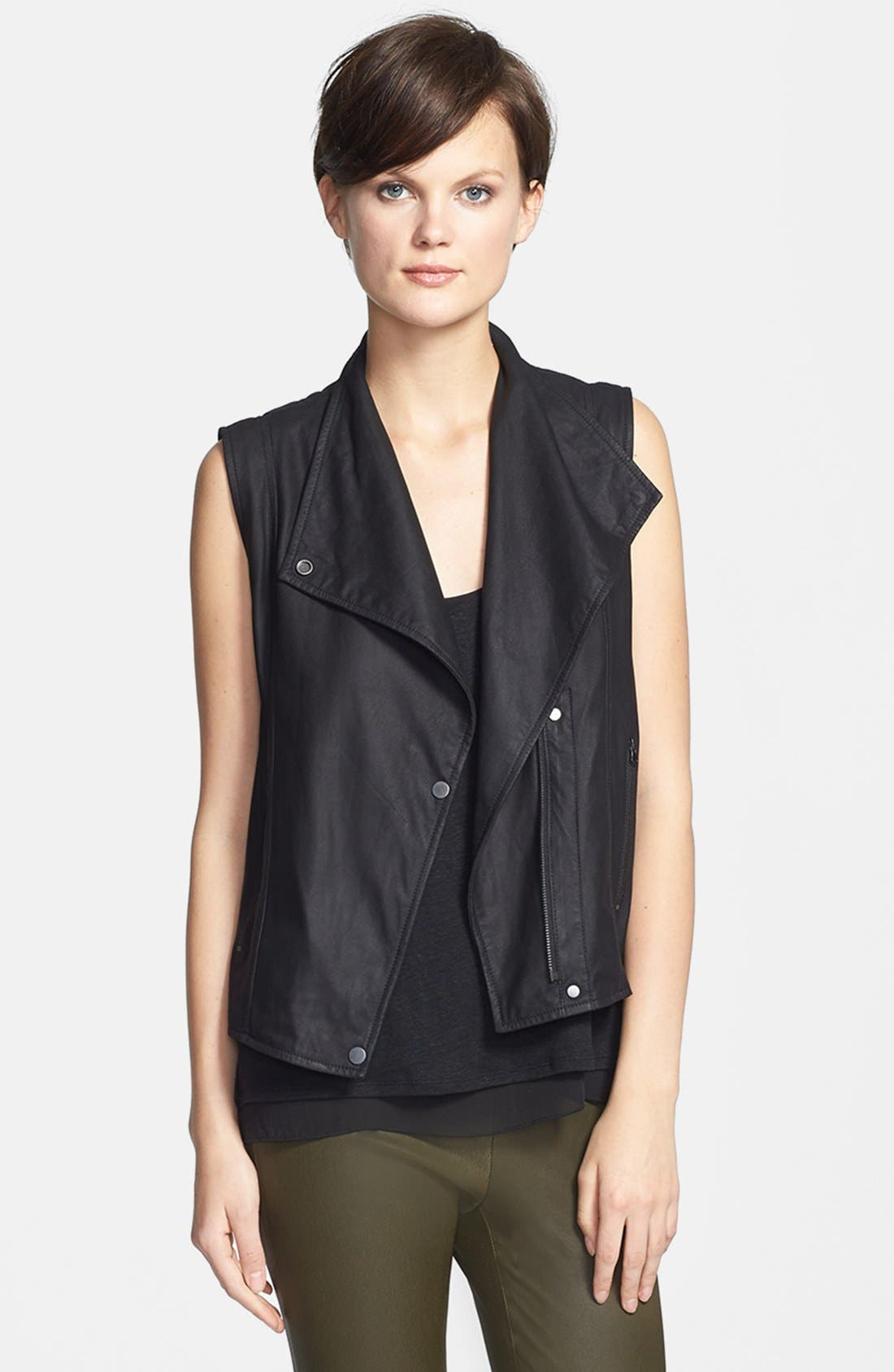 Alternate Image 1 Selected - Vince 'Paper' Leather Vest