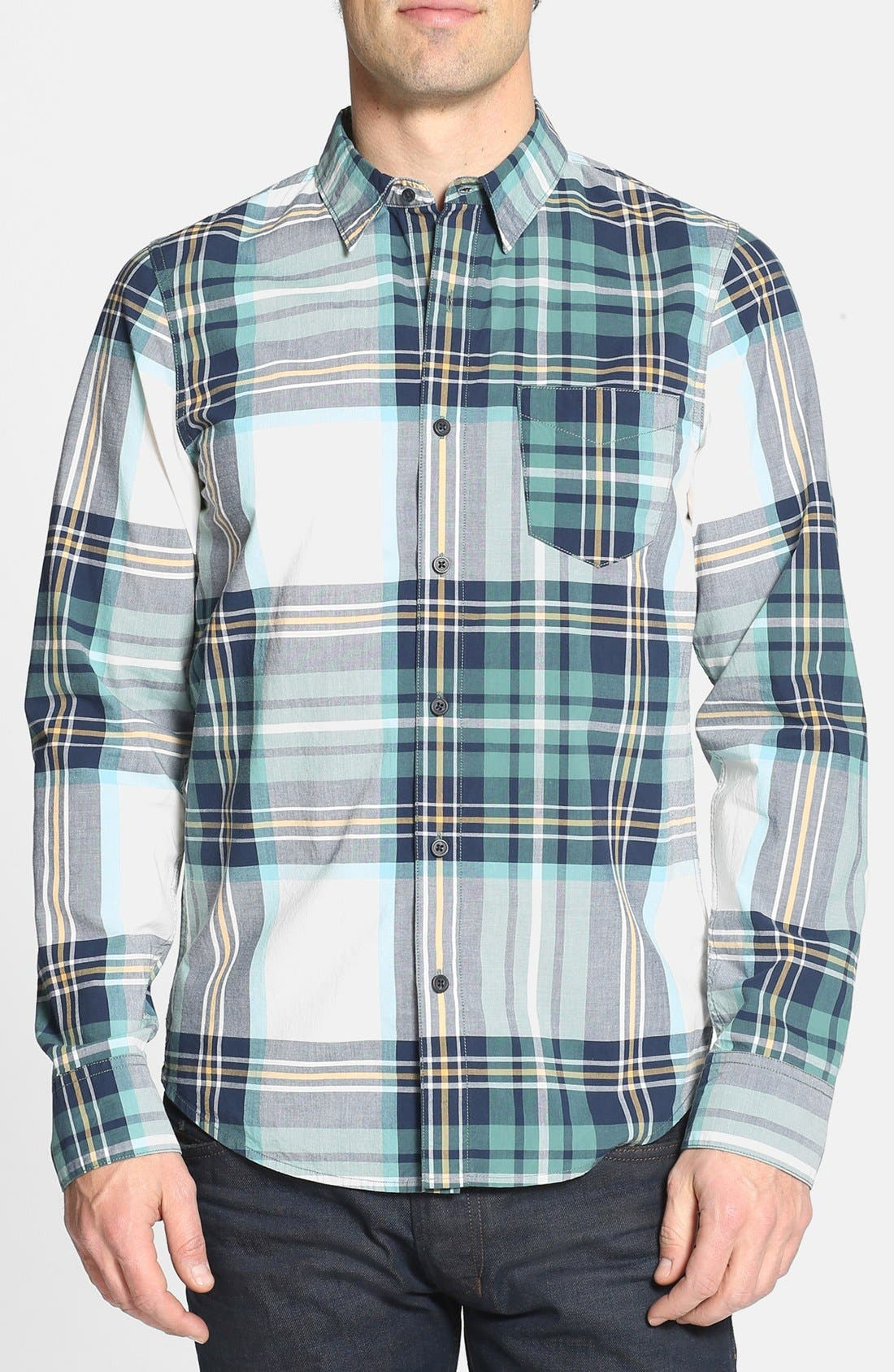 Main Image - 1901 Plaid Poplin Cotton Shirt