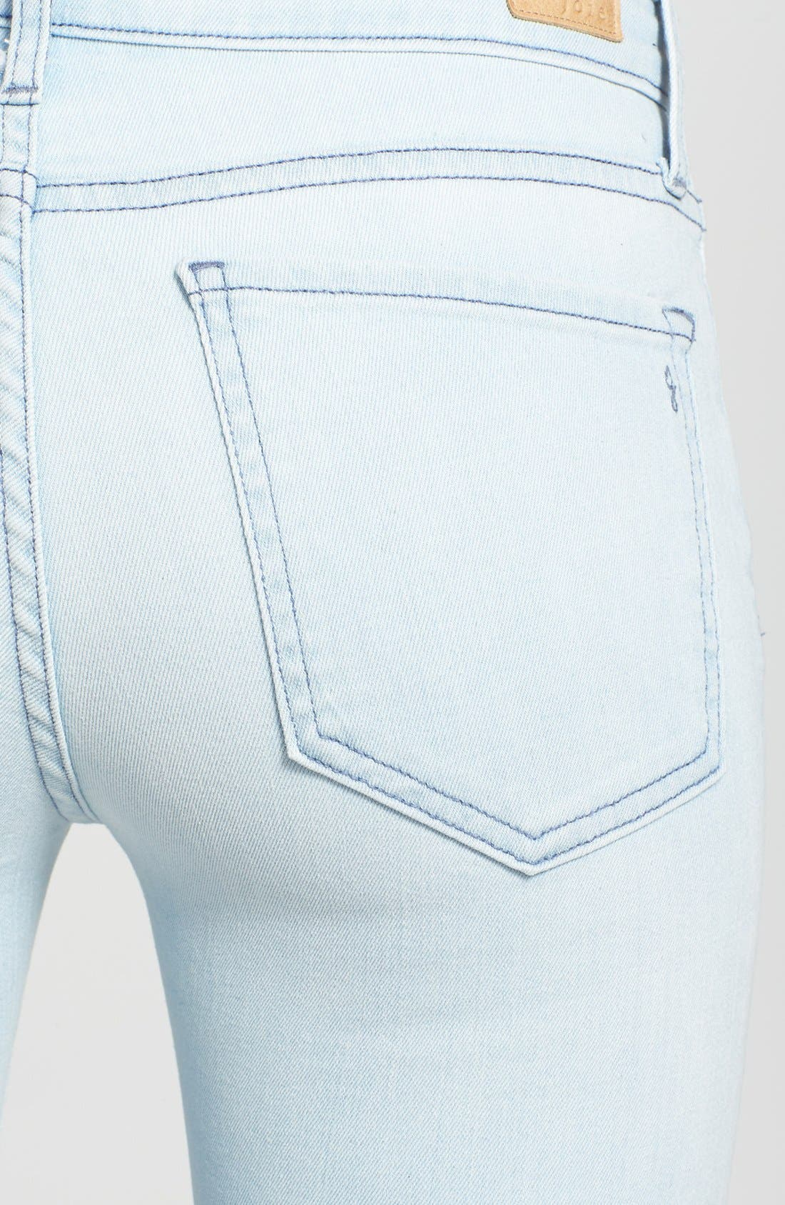 Alternate Image 3  - Joie Colored Crop Stretch Skinny Jeans (Starlight)