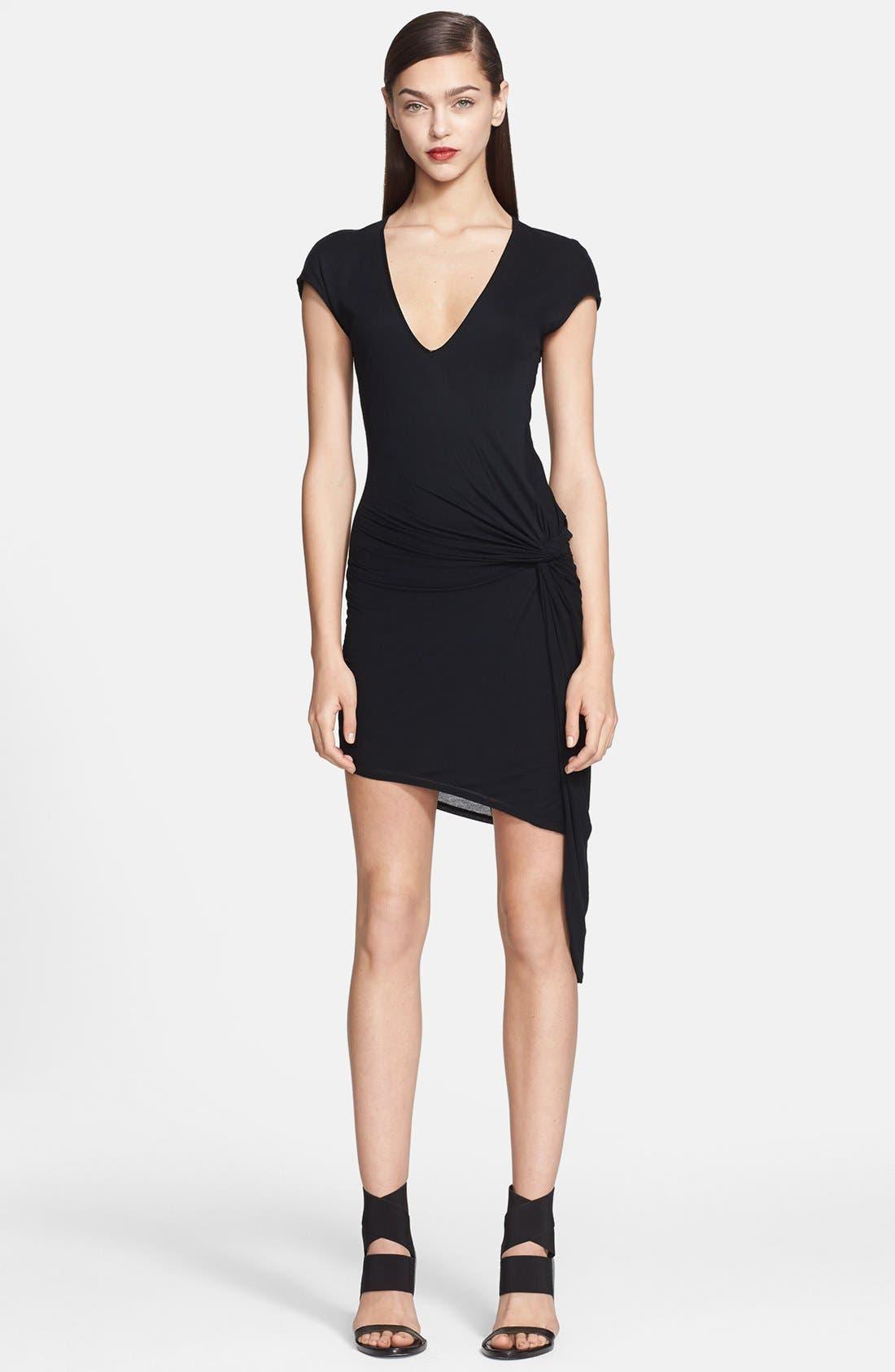 Alternate Image 1 Selected - Helmut Lang Side Detail Jersey Dress