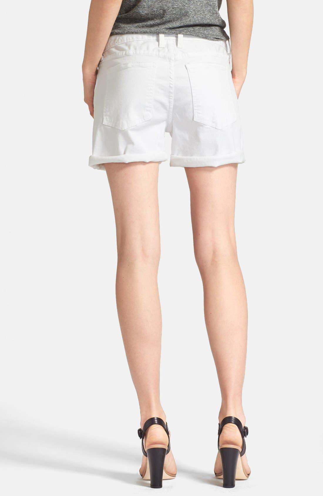 Alternate Image 2  - Current/Elliott 'The Boyfriend' Rolled Shorts (Sugar)